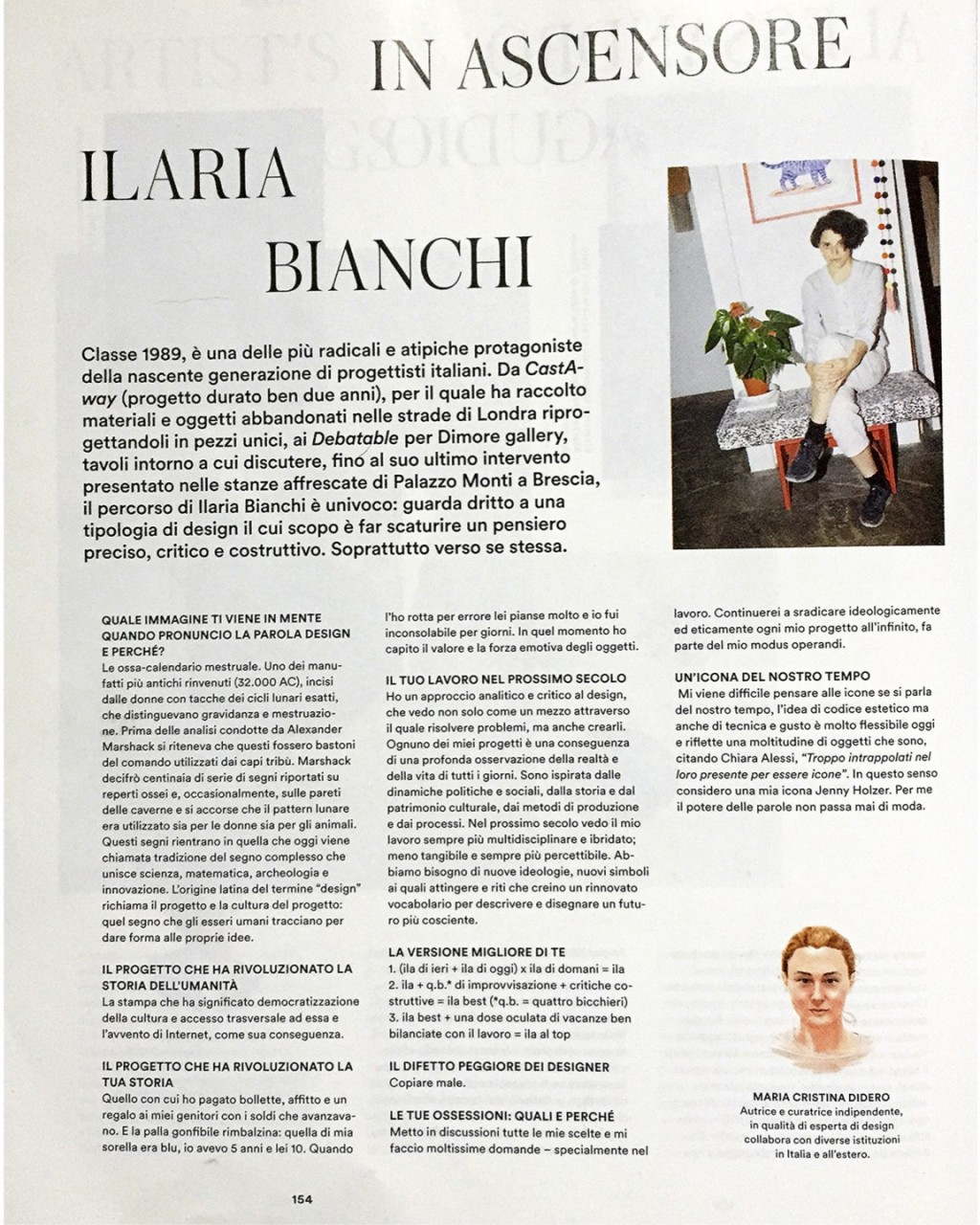 Hello, I'm Ilaria Bianchi. Press