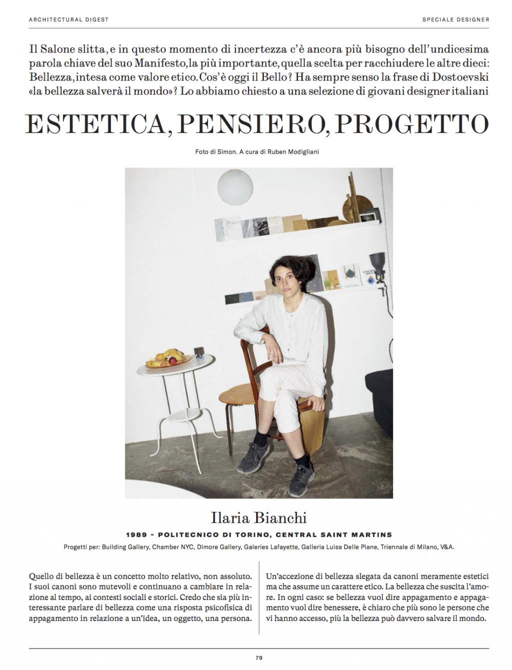 Hello, I'm Ilaria Bianchi. Press